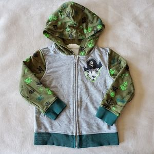 H&M Zippered Grey Hoodie Size 2-4 Years